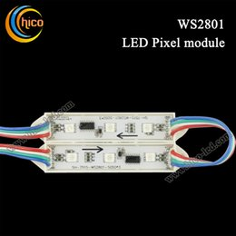Wholesale Led Rgb Pixel Module High - High Quality WS2801 LED Module 3 LEDs 5050 IP65 DC2V 0.72W RGB LED Pixel Light
