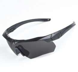 Wholesale Ess Goggles Black - ESS Polarized Cycling Sunglasses Goggles 3 Lens TR90 Tactical Military Glasses