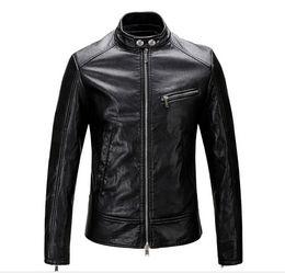 Wholesale Mens Locomotive Leather Jacket - Free shipping 2016New Mens Leather Jacket Jacket Mens Pu locomotive