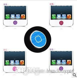 Wholesale Button Ipad Case - New Fashion CD grain Aluminum Home Button Sticker Paste Key Press Keypads Stick for iphone 3 4 4s 5 iPad 2 3 new iPad RJ1158 0416dd
