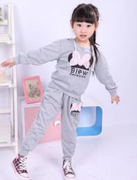 Wholesale Children Garment Sports - New style girl sport wear children Clothing Set girls sport suit Fashion two-piece Baby Garment Butterfly Sets , 1set