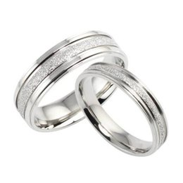 Wholesale Retro Bar Accessories - 2016 Fashion Simple Retro Design Couple Wedding Ring Bands Classical Stainless Steel Men Women Jewelry Accessory