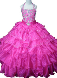 Wholesale Free Kids Pageant Dresses - Pageant Dresses for Juniors 2016 Free Shipping Vestiti Damigella Bambina Luxury Flower Girl Dresses Ball Gown Kids Prom Dresses