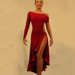 Wholesale Indian Dance Wear - Wholesale-2016 Latin Dance Dress For Girls Ballroom Dance Dress Women Regata Feminina Flamenco Dresses Dace Wear Indian Dance Costume