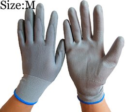 M размер безопасности ПУ перчатки анти-статические защитные перчатки для электронной промышленности техника безопасности на рабочем месте ПУ перчатки от