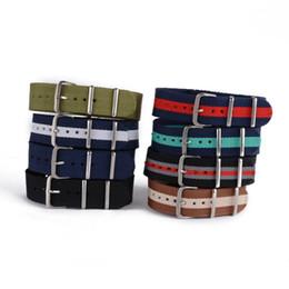 Wholesale Watch Bands Nylon Straps - Fashion Nylon Wrist Watch Band Buckle Straps Mens 8 Colors 20mm