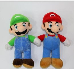 Wholesale Super Mario Brothers Plush Figures - 10inches 25cm Size NEW SUPER MARIO BROTHERS PLUSH MARIO AND LUIGI DOLLS Mario And Luigi Plush Doll Toys for Kids Boys Xmas Gift