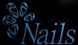 Wholesale Salon Led Neon Sign - LS1143-b-OPEN-Nails-Beauty-Salon-Shop-Neon-Light-Sign Decor Free Shipping Dropshipping Wholesale 6 colors to choose