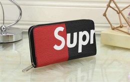 Wholesale Decoration Purses - Women's wallet The European and American luxury decoration brand zipper wallet card fashion bag change purse The new popular length wallets
