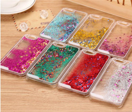 Wholesale Iphone5 Case Glitter Bling - Colorful Moving Shining Stars Liquid Glitter Quicksand TPU Bling Phone Case Cover For iphone5 5S 6 6S 6 6S Plus