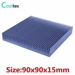 Wholesale Wholesale Integrated Circuits - Wholesale- High quality 90x90x15mm radiator Aluminum heatsink Extruded heat sink for LED Electronic integrated circuit cooler cooling