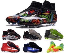 Wholesale New Arrivals youth soccer cleats superflys men soccer cleats shoes high top soccer boots Neymar outdoor football shoes discount shop US6