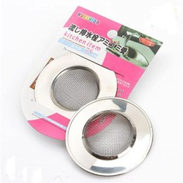 Wholesale Drain Hair - New Stainless Steel Filter Bath Hair Trap Stopper Mesh Sink Strainer Drain Stopper Kitchen Bathroom Tools