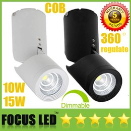 Wholesale Nature Shopping - 360 degree Surface Mounted COB 10W 15W Dimmable LED Downlights CRI>88 110-240V Tiltable Fixture Ceiling Display Shop Down Lights Lamp CSA UL