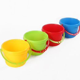 Wholesale Sand Buckets Beach Toys - Kindergarten Chilren water bucket toy beach pail for baby Food grade PP toldders sand paly &water fun mini pail wholesale Top quality