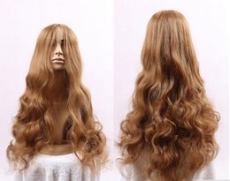 Wholesale Sexy Lolita Wig - Lolita Women's Long light Brown Wavy Wig Anime Cosplay Sexy Party Costume Lolita Wigs Cap Halloween Hair