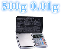 Wholesale Display Calculators - 500g 0.01g newest 6 in 1 Digital Electronic scale LCD display jewelry Gold Sliver Diamond Scale calculators