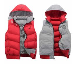 Wholesale Mens Vest Outerwear - NK Winter Mens Vests Coats Outerwear Cotton Padded Vests men Sport coat Hooded Padded Size XL-4XL 3 Colors 2016 Winter Wholesale sales.