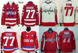 Hombres 2016 New Washington TJ Oshie Hockey Jerseys 77 T. J. Oshie Jersey Home Red Winter Classic Cheap TJ Oshie Jersey cosido desde fabricantes