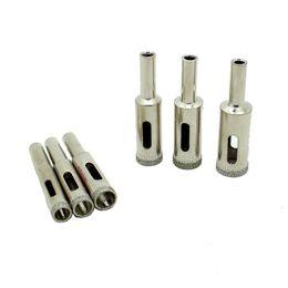 Wholesale diamonds drill - 6Pcs Diamond Coated Core Drill Bit Hole Cutter Saw Glass Tile 6 8 10 12 13 14 mm order<$18no track