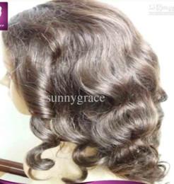 Wholesale Beautiful European Hair Wigs - Beautiful European body wave hair full lace wig 100% human hair wig shipping fast by DHL FEDEX TNT