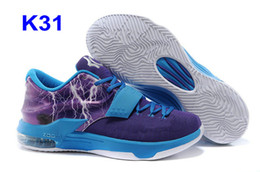 Wholesale Canvas Shoes For Low Price - New 2015 Kevin Durant KD 7 Basketball Shoes For Men sneakers PBJ Sports Shoe Athletic Best price Quality With Standout Midsole Size US7-12