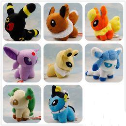 Wholesale Stuffed Lugia - Poke Mon Plush Toys 8 Styles 13cm Suicune Charizard Wobbuffet Lugia Pikachu Jigglypuff Gengar Lucario Poke Stuffed Animals