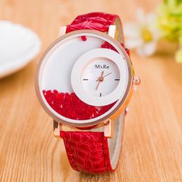 Argentina Nueva Llegada de lujo de Cuero de LA PU Quicksand Rhinestone reloj de las mujeres reloj de Cuarzo relojes para mujer orologi donna regalo Suministro