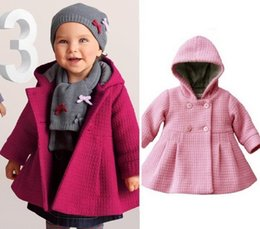 Wholesale Pink Lolita Coat - 2016 New style Girls Baby Winter Warm Coats New Children Overcoat Baby Hooded Sweatercoats Girls' Windbreakers