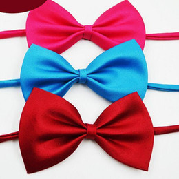 Wholesale Necktie For Baby Boy - Children's bow tie 19 colors Baby bowknot Pet Neck Tie for boy girl neckties Christmas Gift Free FedEx TNT