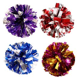 Wholesale Games Flowers - 50G Pc 12Pcs Lot Cheerleading Pom Aerobics Show Dance Hand Flowers Cheer Dance Sport Competition Poms Flower Ball Games Party