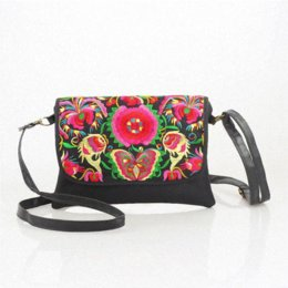 Wholesale Women Handbags Chinese - Embroidered Floral Bags 2016 women Shoulder Bag Female Handbag Ethnic Chinese style Women Leather Bags Messenger Bags LI-555