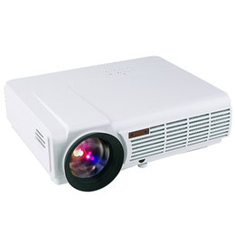 Wholesale Full Manual - HTP led 96 5500 lumens Multifunction projector full hd 3d support 1080p home theater projector beamer Multimedia Home cinema