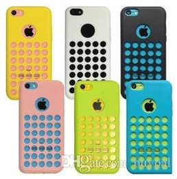 Wholesale Iphone 5c Silicon Dots - Wholesale New Original Simple Ultra Thin Dot Hole Gel Rubber Silicon Cover Case For iPhone 5c case Soft Silicone cover RJ1162 0416dd
