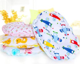 Wholesale Infant Pillows Wholesale - Free Shipping 1 Piece Comfortable Cotton Toddler Infant Pillow Lovely Bear Safe Cartoon Shaping Pillow Positioner Anti-rollover T7016
