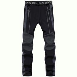 Wholesale Outdoor Pants Trekking - Wholesale-2016 Winter Thermal Softshell Pants Men Outdoor Sport Tech Fleece Waterproof Trousers Trekking Skate Ski Windproof Pants,UA231