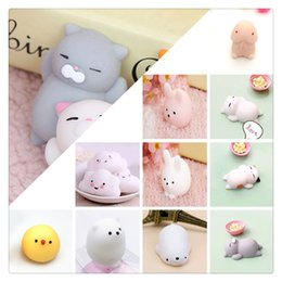 Wholesale Chicken Cat - New Kawaii Cat Squishy Mini Squishies Animals Rabbit Sea Bear Chicken Cloud Cat Mouse Cotton Candy Squishies Slow Rising Phone Charms