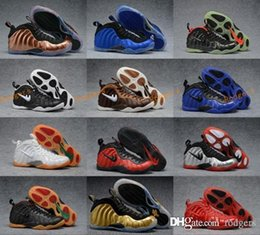 Wholesale Copper Box Arts - 2017 New Air Foamposite One DS Black Metallic Copper Royal Blue Gym Ged Gold Yellow AIR FOAMPOSITE ONE COPPER sneakers BRONZE 8-13