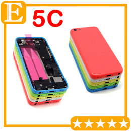 Wholesale Middle Frame Battery Cover - OEM For Apple iphone 5C Back Battery Door Cover Case Middle mid Frame with parts Full Housing Assembly Replacement Parts 1Pcs Lot
