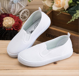 Wholesale White Canvas Sneakers Wholesale - Canvas Zapatillas Children Shoes Boys Girls Sneakers Kids Cotton-made Slip on Casual Shoes size 22-40