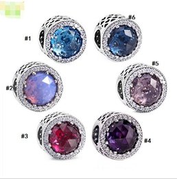 Wholesale Fix Eyes - Factory direct sale S925 silver bracelet beads accessories cat's eye fixed clasp pendant accessories wholesale bead colored diamonds
