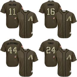 013d4f828 ... Custom Green Salute To Service Cool Base Custom Arizona Diamond Backs  Jerseys AJ.J. Dodgers Clayton Kershaw Green Flexbase Authentic Collection  ...