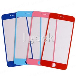 Wholesale Colorful Iphone Replacement Screens - 100pcs New Colorful Front Outer Touch Screen Glass Lens Replacement for iPhone 6 Plus 6s Plus Free DHL
