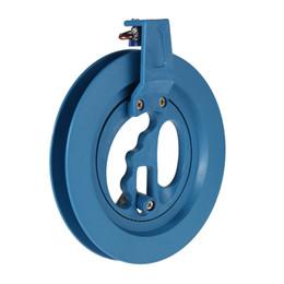 Wholesale Reel Line Winder - 1 Pc Outdoor Round Blue Grip Plastic ABS 16cm 18cm 22cm Kite Reel Winder Fire Wheel Handle Tool Twisted String Line