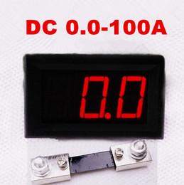 """Цифровой амперный дисплей онлайн-красный цифровой дисплей 0,56 """"3-битный постоянный ток 0,0-100A амперметр тестер тока Ампер амперметр + 100A шунт"""