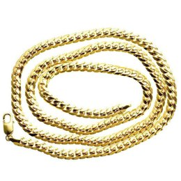 Wholesale Solid Gold Rosaries - Mens Rosary Link Chain 35.26 gram Solid 10K Yellow Gold 8 mm Necklace 30 in