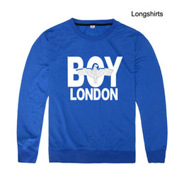 Wholesale White Boy London Sweatshirt - Spring Autumn New Fashion Male Hoodies Sweatshirts Skateboard Hoodies Slimming fit Pullover Sports Boy London thin round neck sweater