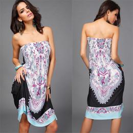 Wholesale Empire Waist Strapless - Free Shipping New Women Waist Chest Wrapped Skirts Milk Silk Ice Dress for women M-XXL