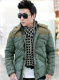 Wholesale Men Color Winter Type - Fall-New Design Men Winter Short Section Cotton Padded Jacket Fashion , Slim-type spinning Thick Coat Outwear Tops for Male S375