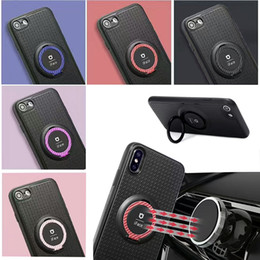 Wholesale Ring Holders Cars - New Iface Serise Cellphone Case For iphone X iphone 8 8 Plus Magnetic Car Ring Holder For Samsung S8 S7edge TPU Phone Case